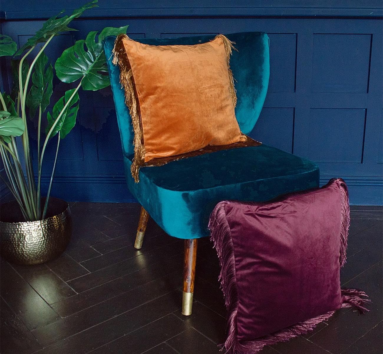 Freya Cushion Cover With Fringing, £24 ($30), Audenza, international delivery
