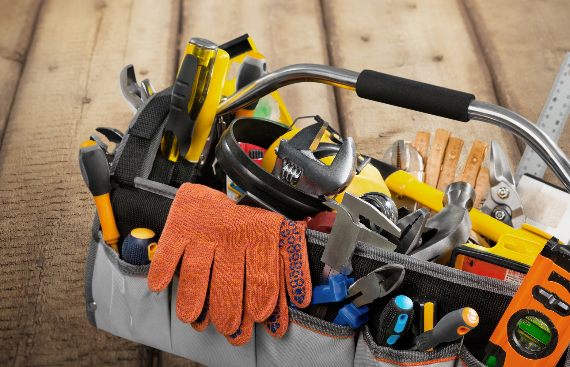 Without regular maintenance, dirt and debris can easily build up on handheld tools. Image: Billion Photos / Shutterstock
