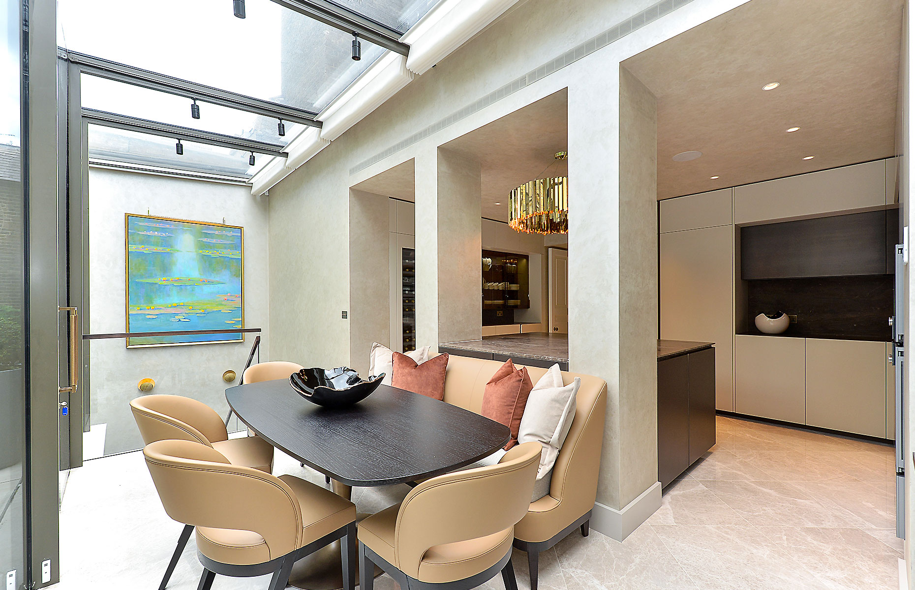 This stylish city home is a rare find in the capital. Image: Rokstone, Marylebone via OnTheMarket